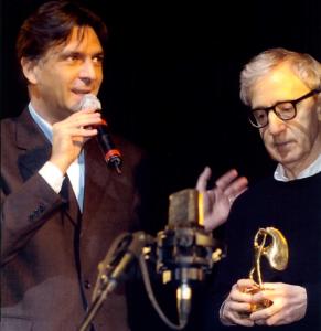 Enrico Gasbarra con woody allen