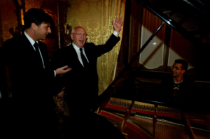 Gasbarra e Mikhail Gorbaciov